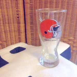 Vintage Cleveland Browns glass NFL licensed NWOT